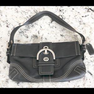 EUC Coach black leather small bag